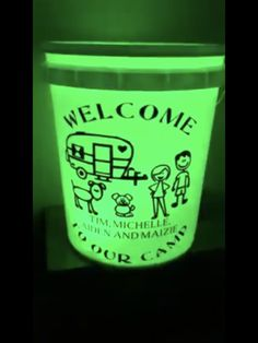 Light Up Camping Bucket My Vinyl Cameo Projects