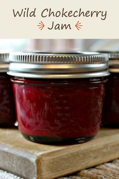 Wild Chokecherry Jam…yum…my sister made it look so easy I decided to make some myself and boy, am I ever pleased with the results! Cherry Recipes, Jelly Recipes, Jam Recipes, Canning Recipes, Recipies, Apple Recipes, Chokecherry Syrup, Cherry Freezer Jam, Canned Food Storage