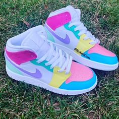 "Custom Color Block ""Pastry Jordan Toddler Freestyle Nike Air Force One Pastel Pink Purple Blue Gr Moda Sneakers, Sneakers Mode, Sneakers Fashion, Shoes Sneakers, Jordans Sneakers, Yeezy Shoes, Air Jordan Sneakers, Sneakers Style, Shoes Uk"
