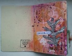 journal... I love the book page leaf!