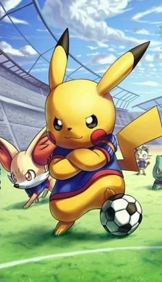 Pokémon dans un match de football