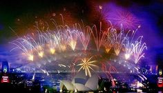 Sydney Harbour - New Years Eve - pity the picture wasn't bigger but I guess you get the idea.  #Australia