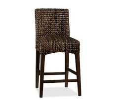 Pottery Barn - Seagrass Barstool Kitchen barstool idea. There are matching dining room table chairs too.