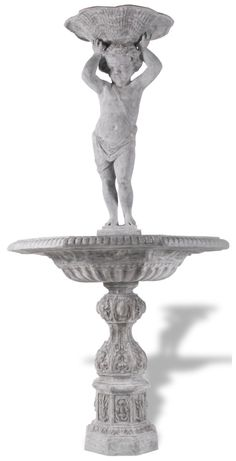 ResinStone English Cherub Fountain