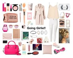 """""""Going Girlie!! 💞"""" by livmooney ❤ liked on Polyvore featuring Converse, Alice + Olivia, River Island, MAC Cosmetics, Pinch Provisions, Guerlain, Kate Spade, Victoria's Secret, Sheriff&Cherry and Imm Living"""