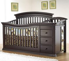 You can convert the Sorelle Verona 4-In-1 Lifetime Convertible Crib and Changer in the Espresso style to a toddler bed, a day bed and then to a full-size bed for a design that grows with your child...