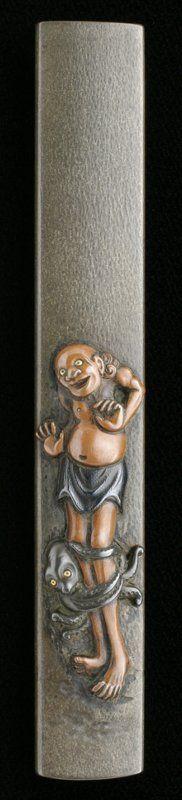 Japanese Kozuka (small sword case) by Masayuki, Edo era (1603~1868)
