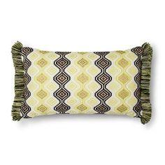 Threshold™  Geo Fringe Lumbar Pillow - Yellow/Black