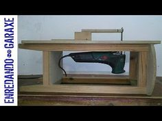 How to attach a jigsaw to a plywood board to make a jigsaw table. It is very easy to make, and it is a very useful tool in our small woodworking shop. I use ...