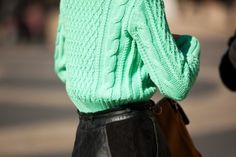 knit + leather mmm