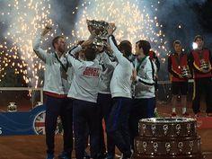 Team GB winning the Davis Cup Trophy 29 November, 2015