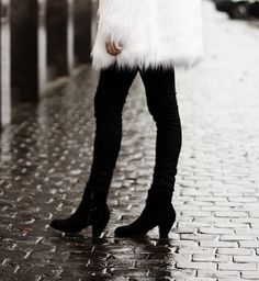 shaggy faux fur and pistol boots