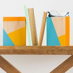For the ultimate in color blocking, flank your books with these stylish bookends.