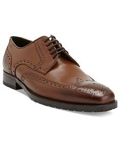 #HugoBoss Shoes, Clasto Wingtip Lace Up Shoes - Mens Hugo Boss Shoes - Macy's