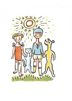 Josef Capek, Histoires de Chien et de Chat , 1929 Vladimir Lebedev Will and Nicolas, The Christmas Bunny , 1953 and B. Christmas Bunny, Architecture Graphics, Vintage Children's Books, Line Drawing, Cat Art, Creative Inspiration, Illustrators, My Books, Illustration Art