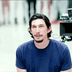 "Adam Driver with a camera behind him. ""I look the way I look. As you get older, you don't care that much. The military had something to do with that, because you get torn down so much, you grow thick skin. I know I look. Adam Driver Movies, Adam Sackler, You Destroyed Me, Knights Of Ren, You Drive Me Crazy, Kylo Ren Adam Driver, Thick Skin, Good People, Pretty People"
