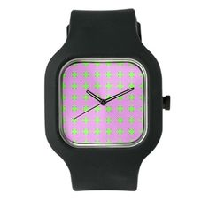 Mod Pink Green Pattern Watch #cafepress #watches #jewelry #gifts