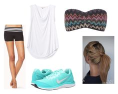 """""""Untitled #90"""" by rachel-lynn786 ❤ liked on Polyvore featuring Forever 21, Rebecca Taylor, Top Secret Society and NIKE"""