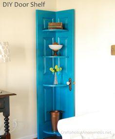 【DIY OK】將舊門板自製成轉角櫃