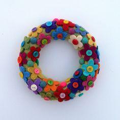 Rescued Wool Wreath Ornament  Wool Flower Wreath  by aliciatodd, $12.99