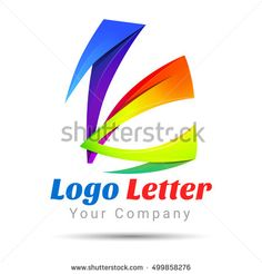 Colorful Vector 3d Volume Logo Design K letter formed by twisted lines. Font style template. Corporate identity.