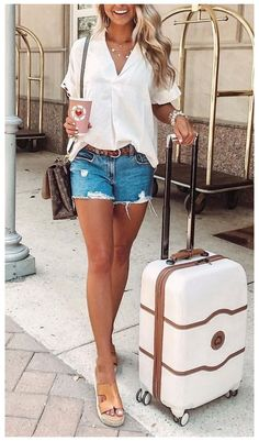 travel wardrobe summer #casual #vacation #outfits