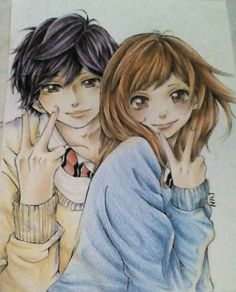 """""""Ao haru ride by Najini-chan Please support the artist by adding to favorites this artwork on deviantart! """""""