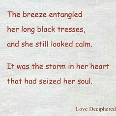Storm that captivated her soul ❤