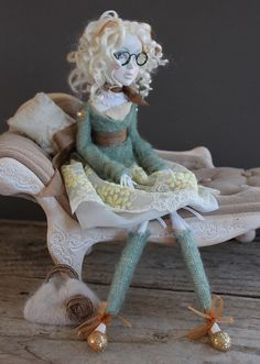Art doll ~ white haired cutie by Abi Monroe (Someday I'm going to learn how to make these!)