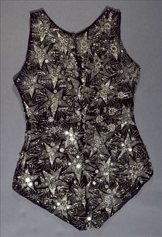 Spangled Velvet Bathing Costume, 1924 Designed by Lanvin Worn to an evening pool party thrown by Marie-Laure de Noailles.