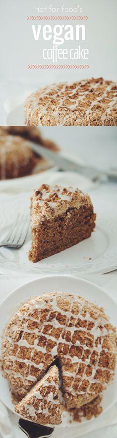 VEGAN COFFEE CAKE | RECIPE on hotforfoodblog.com