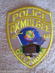 "Okmulgee Police Dept Shoulder Patch - Oklahoma - 3 3/4"" x 5"""