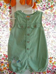 Vintage Toddler Baby Boy Romper Beach by MadeonLincolnCrafts, $6.50
