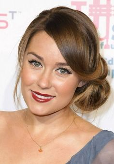 Easy Updo Hairstyles with side bangs for fine hair