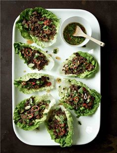 CHILLI BEEF LETTUCE WRAPS : Gordon Ramsay says great food doesn't have to be complex, as you will see these easy beef wraps will show. They are extremely fast to cook and just right with a few bottles of beers at the start off the evening. It is really essential to get a good color on the mince. Try to be bold and take it further than you've ever dared before.