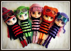 SteamPunk Blythes ~  Happibug custom bouquet