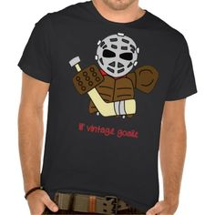 Lil' Vintage Hockey Goalie Tee. To see this design on the full range of products, please visit my store: www.zazzle.com/gamefacegear*/ and click on the 'Hockey Designs' category. #HockeyTshirts