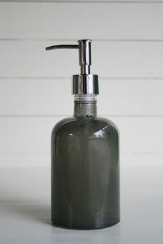 Recycled Glass Soap Dispenser Grey by Rail19 on Etsy