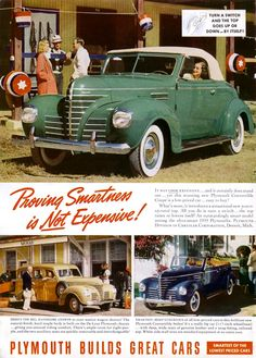 1939 Plymouth Deluxe Convertible My Dad used to have a cream colored one like this in high school.