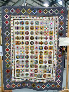 Star scrap quilt