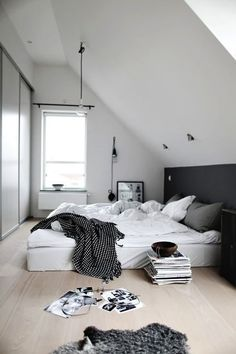 Mi habitacion: La cama grande.