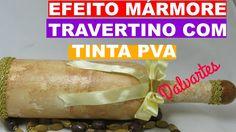 EFEITO MÁRMORE TRAVERTINO COM TINTA PVA