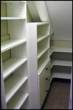 12 Best Closet Ideas Images Attic Storage Closet Bedroom Slanted Walls