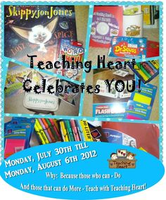 prize time for teachers next week...