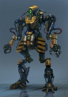 "Alexander Trufanov's ""Worker Bot"" #mecha – https://www.pinterest.com/pin/274930752232185466/"