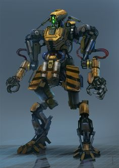 "Alexander Trufanov's ""Worker Bot"" #mecha – https://www.pinterest.com/pin/274930752232185466/"