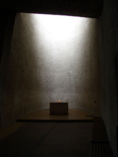 Apse in the Chapel of Notre-Dame-du-Haut at Ronchamps, Le Corbusier 1954.
