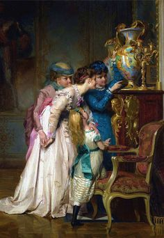 The Vase ~ Jules-Alexandre Patrouillard Classic Paintings, European Paintings, Old Paintings, Paintings I Love, Beautiful Paintings, Victorian Paintings, Renaissance Paintings, Victorian Art, Renaissance Art