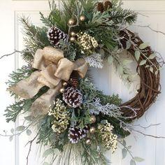Winter Wreath-Christmas Wreath-Christmas Wreaths by ReginasGarden