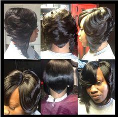 Most recent Pictures Sew In Bob Hairstyles To Give You New Looks Bird's-wings Se. Style Who created the Bob hairstyle? Bob has been major the league of trend hairstyles for decades. 27 Piece Hairstyles, Sew In Bob Hairstyles, My Hairstyle, Braided Hairstyles, Black Hairstyles, Short Quick Weave Hairstyles, Gorgeous Hairstyles, Hairstyles Pictures, African Hairstyles